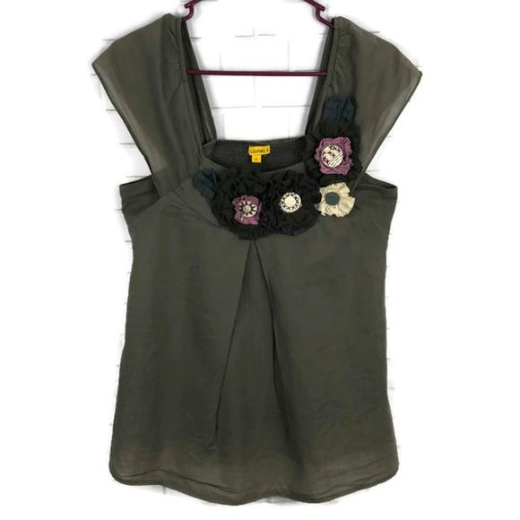 Lulumari Tops - LULUMARI Embellished Rosette Sleeveless Blouse S